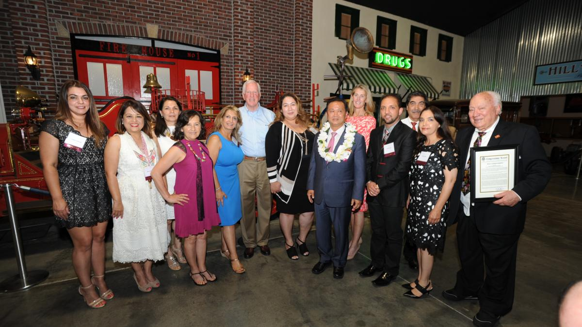 From left to right: Carmela Sandoval, Mayor Myrna De Vera, Maria Sanchez, Amelia Ceja, Dr. Maryam Mohsenzadeh, Rep. Mike Thompson, Nataly Deherrera, William Kim, Suzanne Smith, Sonu Chandi, Gustavo Brambila, Luisa Acosta, and Art Ibleto.