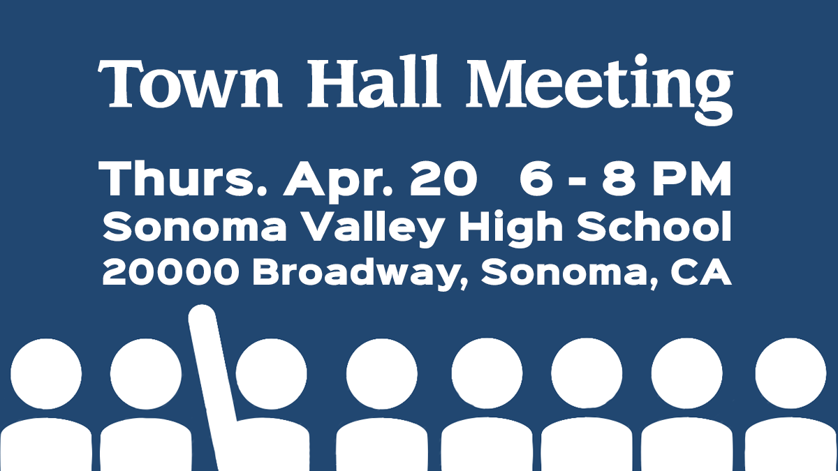 Sonoma Town Hall Meeting