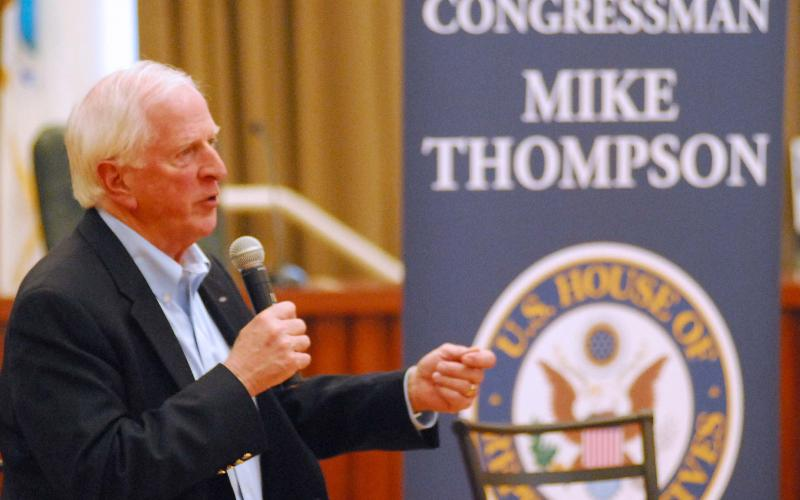 Thompson Discusses Social Security in Martinez