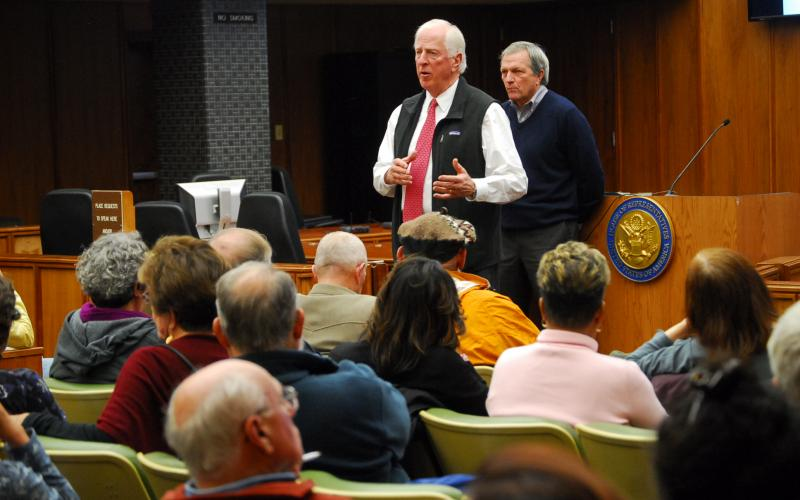 Rep. Thompson speaks with constituents at a local town hall