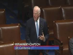 Thompson speaks on the House floor.
